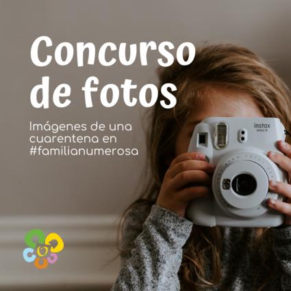 Concurso de fotos cuarentena en familias numerosas