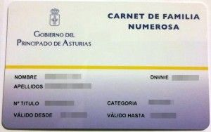 Carne de familia numerosa de Asturias