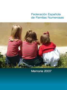 Portada Memoria 2007 Familias Numerosas