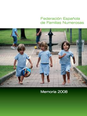 Portada Memoria 2008 Familias Numerosas