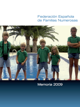 Portada Memoria 2009 Familias Numerosas