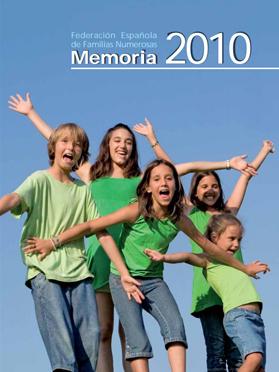 Portada Memoria 2010 Familias Numerosas