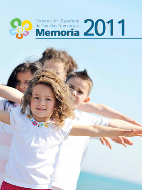 Portada Memoria 2011 Familias Numerosas