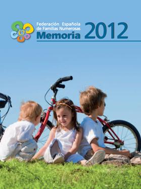 Portada Memoria 2012 Familias Numerosas