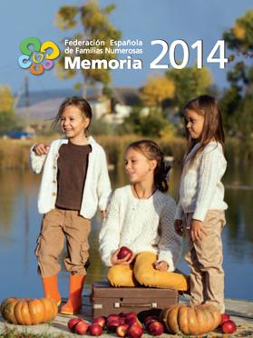 Portada Memoria 2014 Familias Numerosas