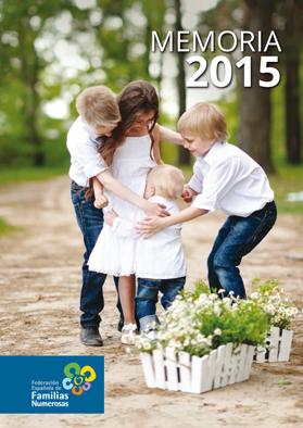 Portada Memoria 2015 Familias Numerosas