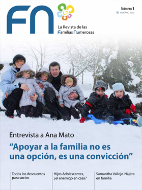 la revista de Familia Numerosas Invierno 2013